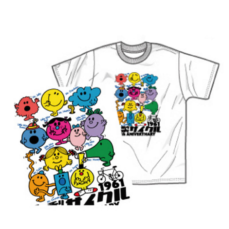 Tシャツ(Mr. Men Little Miss Aカラフル)