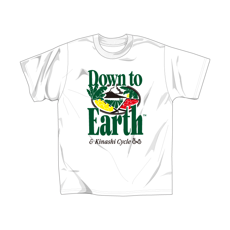 Tシャツ(Down to Earth×木梨サイクル)